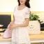 ชุดทำงานสวยๆ ชุดเดรสสั้น สีขาว ให้ลุคสาวหวานสไตล์เกาหลี สวยหรู ดูดี เรียบร้อย ( S,M,L,XL ) thumbnail 2