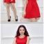 ชุดเดรสสั้นสีแดง แขนกุด สวยๆ เรียบๆ ดูดี thumbnail 4