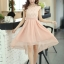 ชุดเดรสออกงานสวยๆ ชุดเดรสสั้น สีชมพู ผ้าชีฟอง ใส่ไปงานแต่งงาน ออกงานเลี้ยง ให้ลุคสาวหวานสไตล์เกาหลี สวยหรู ดูดี ( S M L XL ) thumbnail 3