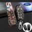 ซองหนังแท้ ใส่กุญแจรีโมทรถยนต์ All New Ford Ranger,Everest 2015-16 รุ่นลายไม้พับข้าง สีดำ thumbnail 1