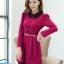 ชุดทำงานสวยๆ ชุดเดรสสั้น สีชมพูบานเย็น คอปก แขนยาว ให้ลุคสาวหวานสไตล์เกาหลี สวยหรู ดูดี ( S M L ) thumbnail 5