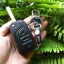 ซองหนังแท้ ใส่กุญแจรีโมทรถยนต์ รุ่นหนังนิ่ม Toyota Hilux Revo,New Altis 2014-17 พับข้าง 3 ปุ่ม thumbnail 10