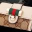 กระเป๋าพวงกุญแจ Gucci กุชชี่ ลายใหม่ คุณภาพเป็นเลิศ สี น้ำตาล - ขาว (Pre) thumbnail 9