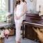 ชุดออกงาน/ชุดไปงานแต่งงานสวยๆ สีขาว เซ็ทเสื้อ+กางเกง ผ้าลูกไม้ สวยหวาน หรู เรียบๆ thumbnail 6
