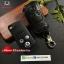 ซองหนังแท้ ใส่กุญแจรีโมทรถยนต์ Honda Civic FB,CR-V Keyless 3 ปุ่ม รุ่นถอดปลอกได้ สีดำ thumbnail 1