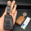 New ซองหนังแท้ ใส่กุญแจรีโมทรถยนต์ Toyota New Vios, Yaris Ativ 2014-17 แบบ Push Start โลโก้เงิน รุ่น 3 ปุ่ม thumbnail 5