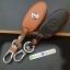 ซองหนังแท้ ใส่กุญแจรีโมทรถยนต์ รุ่นหนังนิ่ม โลโก้-เงิน Nissan Teana,Almera,Sylphy,Xtrail Smart Key 4 ปุ่ม thumbnail 3