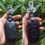 ซองหนังแท้ ใส่กุญแจรีโมทรถยนต์ รุ่นหนังนิ่ม Toyota Vellfire,Alphard 2015-17 Smart Key 6 ปุ่ม โลโก้-เงิน thumbnail 9