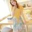 ชุดเดรสยาวแฟชั่นเกาหลี แม็กซี่เดรสสวยๆ สีเหลือง กระโปรงลายดอกไม้ เป็นชุดเดรสแนวหวานน่ารัก เรียบร้อย ดูดี ( S M L) thumbnail 4