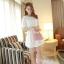 ชุดเดรสสั้นแฟชั่นเกาหลี ชุดเดรสลูกไม้สีขาว แขนสามส่วน เป็นชุดเดรสแนวหวานน่ารัก สวย เรียบร้อย ดูดี ( S M L ) thumbnail 3