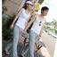 กางเกงขายาวผ้ายืดผู้หญิง กางเกงขายาว Anjoy & Fitchไซส์ M (AF) สีเทา thumbnail 13
