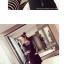 ชุดแฟชั่นเกาหลีน่ารักๆ สีดำ เสื้อลายขวางแขนยาว + เดรสสั้นแขนกุดทรงตรง thumbnail 2