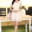ชุดทำงานสวยๆ ชุดเดรสสั้น สีขาว ให้ลุคสาวหวานสไตล์เกาหลี สวยหรู ดูดี เรียบร้อย ( S,M,L,XL ) thumbnail 8