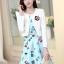 ชุดเดรสทำงานเกาหลี เดรสสั้นน่ารักๆพิมพ์ลายโบว์ มาคู่กับเสื้อสูทตัวสั้นสีขาว เนื้อผ้าดี ทำให้คุณสาวๆ ดูสวยง่า ( M L XL XXL ) thumbnail 5
