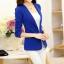 เสื้อสูททำงานผู้หญิง สีน้ำเงิน แขนยาว คอปก เอวเข้ารูป thumbnail 8