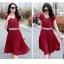 ชุดเดรสทำงานสีแดง ผ้าชีฟอง ลุคสาวหวาน เรียบร้อย สวยๆ สไตล์คุณครู สาวออฟฟิศ thumbnail 4