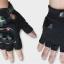 ถุงมือขี่มอเตอร์ไซค์ครึ่งนิ้ว Pro-Biker-Monster สีดำ thumbnail 2