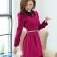 ชุดทำงานสวยๆ ชุดเดรสสั้น สีชมพูบานเย็น คอปก แขนยาว ให้ลุคสาวหวานสไตล์เกาหลี สวยหรู ดูดี ( S M L ) thumbnail 2