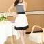ชุดทำงานแฟชั่นเกาหลี มินิเดรสสวยๆ เดรสสั้นแขนกุด กระโปรงผ้าแก้ว สีดำ ( S M L XL ) thumbnail 9