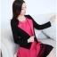ชุดเดรสทำงานสวยๆแฟชั่นเกาหลี ชุดแซกกระโปรงสั้น สีชมพูบานเย็น + เสื้อสูทแขนยาวสีดำ เป็นชุดทำงานออฟฟิศ(บริษัท),คุณครู,ราชการ แบบสวยๆ เรียบร้อยดูดี ( S,M,L,XL) thumbnail 5