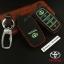 ซองหนังแท้ ใส่กุญแจรีโมทรถยนต์ รุ่นด้ายสีเรืองแสง All New Toyota Fortuner/Camry 2015-18 Smart 4 ปุ่ม thumbnail 4