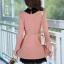 ชุดทำงานสวยๆ ชุดเดรสสั้น สีชมพู คอปก แขนยาว ให้ลุคสาวหวานสไตล์เกาหลี สวยหรู ดูดี ( S M L ) thumbnail 3