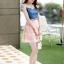 ชุดเดรสสั้นแฟชั่นเกาหลี สีชมพู เสื้อแต่งเป็นผ้ายีนส์เย็บต่อด้วยกระโปรงผ้าแก้ว เป็นชุดเดรสแนวหวานน่ารัก สวย เรียบร้อย ดูดี ( S M L XL ) thumbnail 4