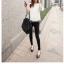เสื้อสีขาว แขนยาวแต่งระบายสวยๆ ทรงตรงใส่สบาย แฟชั่นเกาหลี thumbnail 9