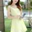 ชุดเดรสแฟชั่นเกาหลี ชุดเดรสน่ารัก ชุดเดรสสั้น ชุดเดรสสวย ๆ ชุดเดรสลูกไม้ คอกลม แขนกุด กระโปรงบาน ( S,M,L,XL ) thumbnail 10