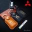 กระเป๋า ซองหนังแท้ ใส่กุญแจรีโมทรถยนต์ Mitsubishi Mirage,Attrage,Triton,Pajero รุ่นกระดุมแป๊ก thumbnail 2