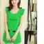 ชุดเดรสแฟชั่นเกาหลี ชุดเดรสแฟชั่นน่ารัก ชุดเชตเสื้อคอกลมแขนกุด + กางเกงขาสั้น ( M, L, XL ) thumbnail 3