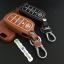 ซองหนังแท้ ใส่กุญแจรีโมทรถยนต์ รุ่นเรืองแสง Toyota Fortuner/Camry Hybrid Smart Key 4 ปุ่ม thumbnail 5