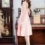 ชุดเดรสไปงานแต่งงาน ไปงานเลี้ยง ออกงานสวยหรู สีชมพูโอรส เกาะอก ลุคสาวหวานน่ารักๆ thumbnail 3