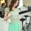 ชุดเดรสยาวสวยๆ สีเขียว เสื้อผ้าลูกไม้อย่างดีเย็บต่อด้วยกระโปรงผ้าชีฟอง ใส่ไปงานแต่งงาน ออกงานเลี้ยง ให้ลุคสวยหรู ดูดี S M L XL thumbnail 12