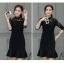 ชุดเดรสทำงานสีดำ เข้ารูป คอจีน แขนยาว สวยหรู ดูดี สุภาพ เรียบร้อย ใส่ทำงาน ใส่ออกงานได้ S-XL thumbnail 6