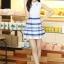 ชุดออกงานสวยๆแฟชั่นเกาหลี สีน้ำเงิน ผ้าลูกไม้ เหมาะกับการใส่ทำงาน หรือจะใส่ออกงาน ไปงานแต่งงานก็ได้ จะให้ลุคที่สวยสง่า thumbnail 9