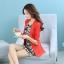 เสื้อสูททำงานผู้หญิง สีส้มแสด แขนยาว คอปก เอวเข้ารูป thumbnail 6