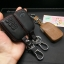 New ซองหนังแท้ ใส่กุญแจรีโมทรถยนต์ Toyota New Vios, Yaris Ativ 2014-17 แบบ Push Start โลโก้เงิน รุ่น 3 ปุ่ม thumbnail 3