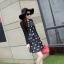 ชุดเดรสทำงานสีดำพิมพ์ลายตุ๊กตาผู้หญิง แขนยาว คอกลม เอวเข้ารูป สวยหวาน thumbnail 2