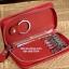 กระเป๋าหนังแท้ใส่พวงกุญแจ Cater gootaer สี ดำ-น้ำตาล-ชมพู-ดำเงา thumbnail 6