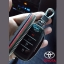 กระเป๋าซองหนัง ใส่กุญแจรีโมท รุ่นมินิซิบรอบโลโก้เงิน Toyota Fortuner/Camry Hybrid 2015-17 Smart 4 ปุ่ม thumbnail 6