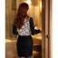 เสื้อทำงานแฟชั่นสไตล์เกาหลีสวยๆ เสื้อลูกไม้แขนยาวสีดำ คอจีน กระดุมคอ ผ้าลูกไม้เนื้อผ้ายืดหยุ่น thumbnail 6