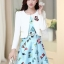 ชุดเดรสทำงานเกาหลี เดรสสั้นน่ารักๆพิมพ์ลายโบว์ มาคู่กับเสื้อสูทตัวสั้นสีขาว เนื้อผ้าดี ทำให้คุณสาวๆ ดูสวยง่า ( M L XL XXL ) thumbnail 7