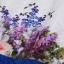 ชุดเดรสทำงานแฟชั่นสไตล์เกาหลีสวยๆ ชุดแซกกระโปรงใส่ทำงาน สีขาว พิมพ์ลายดอกไม้สัีน้ำเงิน ผ้าคอลตอลอัดลายดอกไม้ ซิปหลัง , thumbnail 10