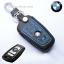 ซองหนังแท้ ใส่กุญแจรีโมท รุ่นด้ายสี พิมพ์โลโก้ BMW new series 3,5 รุ่น 3 ปุ่ม thumbnail 4