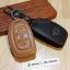 ซองหนังแท้ ใส่กุญแจรีโมทรถยนต์ รุ่นโลโก้เหล็ก Hyundai Elantra 2,3 ปุ่ม พับข้าง thumbnail 5