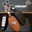 ซองหนังแท้ ใส่กุญแจรีโมทรถยนต์ รุ่นหนังนิ่ม โลโก้-เงิน Nissan Teana,Almera,Sylphy,Xtrail Smart Key 4 ปุ่ม thumbnail 1