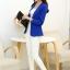 เสื้อสูททำงานผู้หญิง สีน้ำเงิน แขนยาว คอปก เอวเข้ารูป thumbnail 4