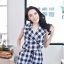 Navy Checked Jumpsuit thumbnail 10