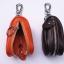 กระเป๋าซองหนังแท้ ใส่กุญแจ อเนกประสงค์ สี ดำ - น้ำตาล - น้ำตาลอ่อน thumbnail 3